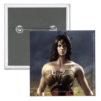 Wonder Woman 15 Cm Square Badge