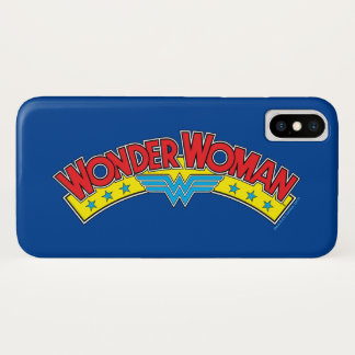 Wonder Woman 1987 Comic Book Logo iPhone X Case