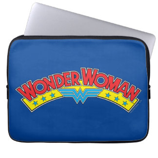 Wonder Woman 1987 Comic Book Logo Laptop Sleeve