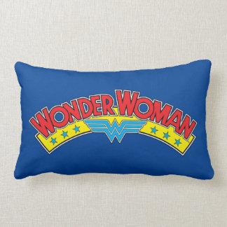 Wonder Woman 1987 Comic Book Logo Lumbar Pillow