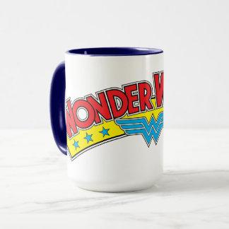 Wonder Woman 1987 Comic Book Logo Mug