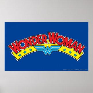 Wonder Woman 1987 Comic Book Logo Poster