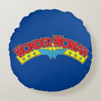 Wonder Woman 1987 Comic Book Logo Round Cushion