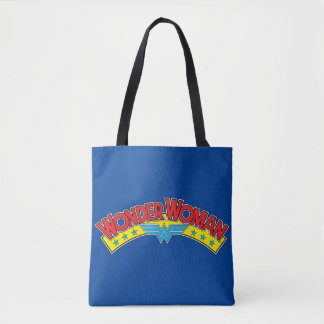 Wonder Woman 1987 Comic Book Logo Tote Bag