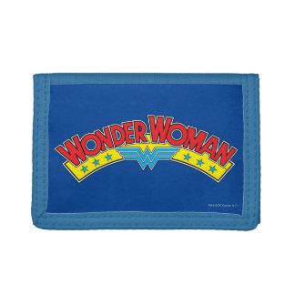 Wonder Woman 1987 Comic Book Logo Trifold Wallets