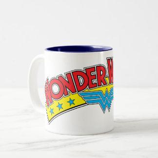 Wonder Woman 1987 Comic Book Logo Two-Tone Coffee Mug