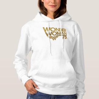 Wonder Woman 75th Anniversary Gold Logo Hoodie