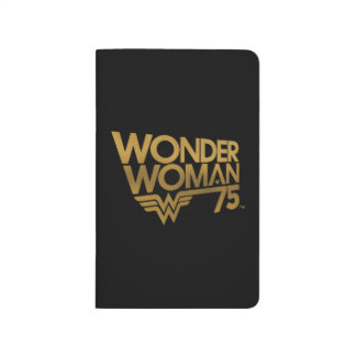 Wonder Woman 75th Anniversary Gold Logo Journal