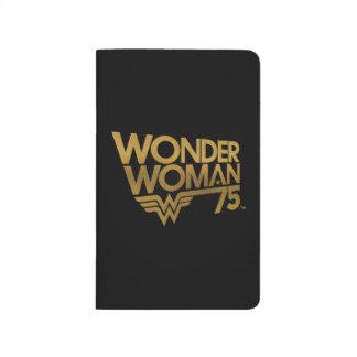 Wonder Woman 75th Anniversary Gold Logo Journal