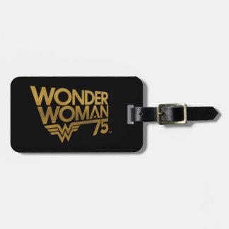 Wonder Woman 75th Anniversary Gold Logo Luggage Tag