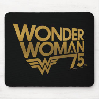 Wonder Woman 75th Anniversary Gold Logo Mouse Mat