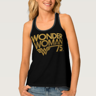 Wonder Woman 75th Anniversary Gold Logo Tank Top
