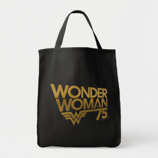 Wonder Woman 75th Anniversary Gold Logo Tote Bag