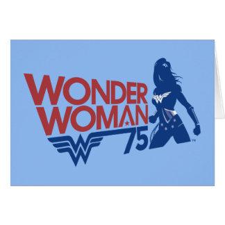 Wonder Woman 75th Anniversary Red & Blue Logo Card