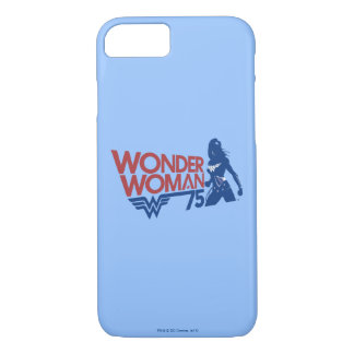 Wonder Woman 75th Anniversary Red & Blue Logo iPhone 8/7 Case