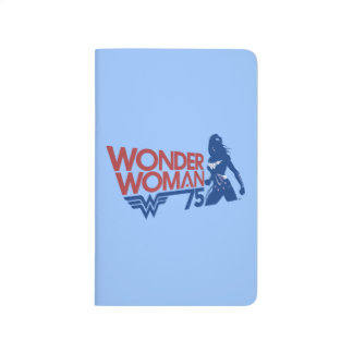 Wonder Woman 75th Anniversary Red & Blue Logo Journal