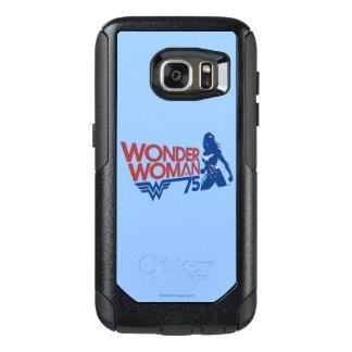 Wonder Woman 75th Anniversary Red & Blue Logo OtterBox Samsung Galaxy S7 Case
