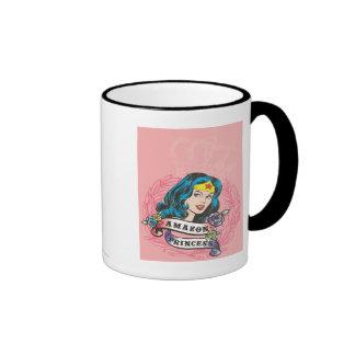 Wonder Woman Amazon Princess Ringer Mug