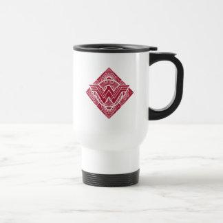 Wonder Woman Amazonian Symbol Travel Mug