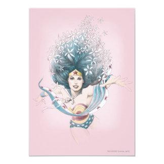 Wonder Woman and Flowers 13 Cm X 18 Cm Invitation Card