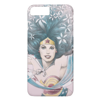 Wonder Woman and Flowers iPhone 7 Plus Case
