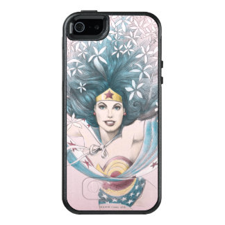 Wonder Woman and Flowers OtterBox iPhone 5/5s/SE Case