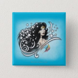Wonder Woman and Stars 15 Cm Square Badge