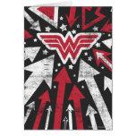 Wonder Woman Arrows Greeting Card