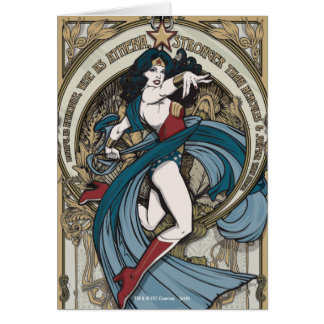 Wonder Woman Art Nouveau Panel Card