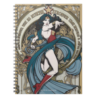Wonder Woman Art Nouveau Panel Spiral Notebook