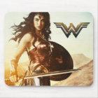 Wonder Woman At Sunset Mouse Mat