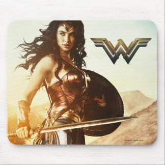 Wonder Woman At Sunset Mouse Mat