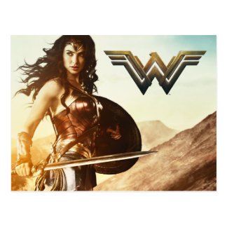 Wonder Woman At Sunset Postcard