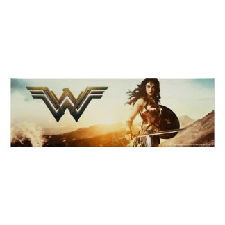 Wonder Woman At Sunset Poster
