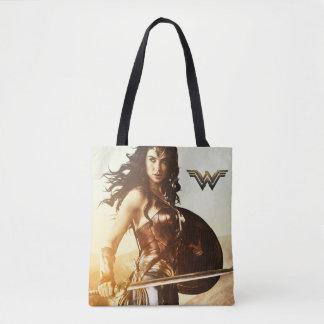 Wonder Woman At Sunset Tote Bag
