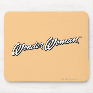 Wonder Woman B W Logo 1 Mousepads
