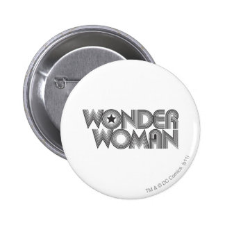 Wonder Woman B&W Logo 3 6 Cm Round Badge