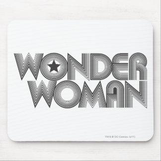 Wonder Woman B&W Logo 3 Mouse Pad