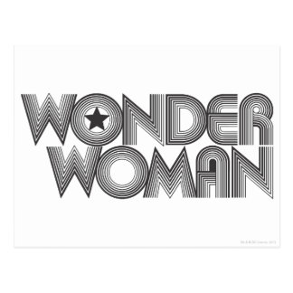 Wonder Woman B&W Logo 3 Postcard