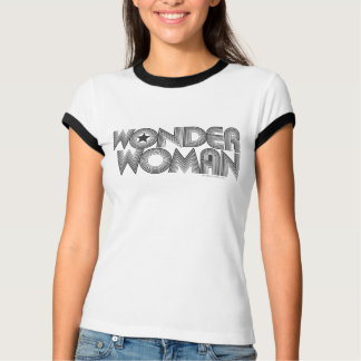 Wonder Woman B&W Logo 3 T-Shirt