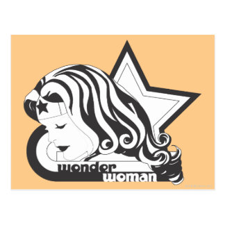 Wonder Woman B&W Star Postcard