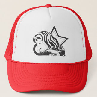 Wonder Woman B&W Star Trucker Hat