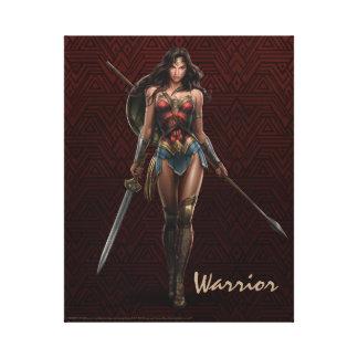 Wonder Woman Battle-Ready Comic Art Canvas Print