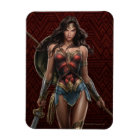 Wonder Woman Battle-Ready Comic Art Magnet