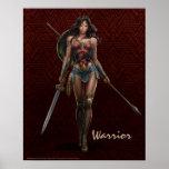 Wonder Woman Battle-Ready Comic Art Poster