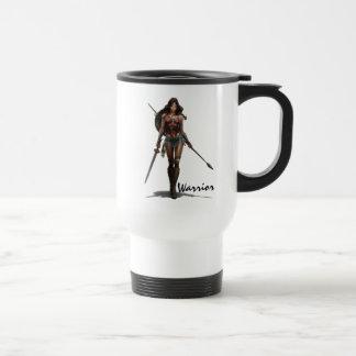 Wonder Woman Battle-Ready Comic Art Travel Mug