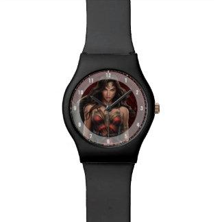 Wonder Woman Battle-Ready Comic Art Wristwatch