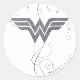 Wonder Woman | Beauty Bliss Logo Classic Round Sticker