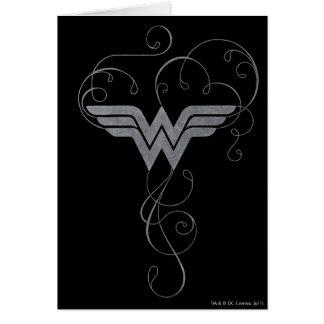 Wonder Woman   Beauty Bliss Logo Greeting Card