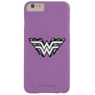 Wonder Woman Black Lace Logo Barely There iPhone 6 Plus Case